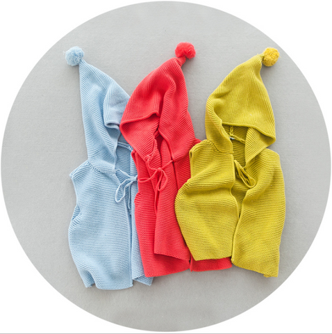 Cotton hood vest - miniwardrobe-Outerwear-Mini Wardrobe Boutique Kidswear Online