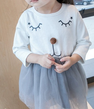 Face tulle dress - miniwardrobe-Dresses-Mini Wardrobe Boutique Kidswear Online