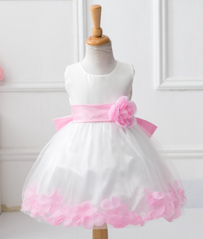 Party dress pink petal - miniwardrobe-Dress-Mini Wardrobe Boutique Kidswear Online