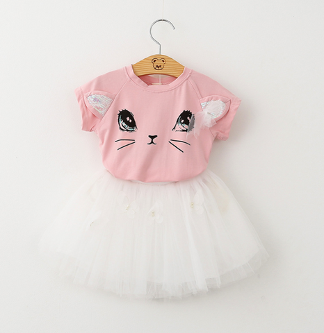 Cat tulle dress - miniwardrobe-Outfit Set-Mini Wardrobe Boutique Kidswear Online