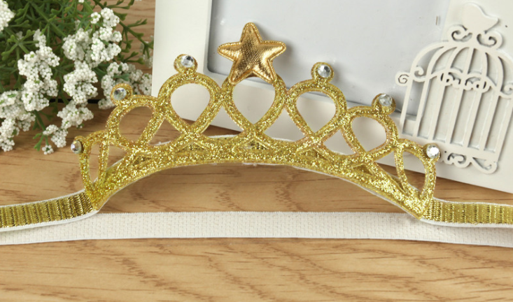 Headbands gold crown - miniwardrobe-headbands-Mini Wardrobe Boutique Kidswear Online