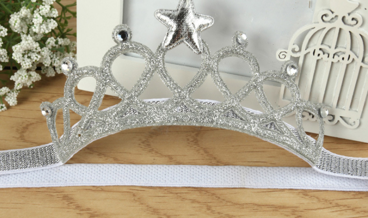 Headbands silver crown - miniwardrobe-headbands-Mini Wardrobe Boutique Kidswear Online