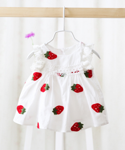 Strawberry dress - miniwardrobe-Dress-Mini Wardrobe Boutique Kidswear Online