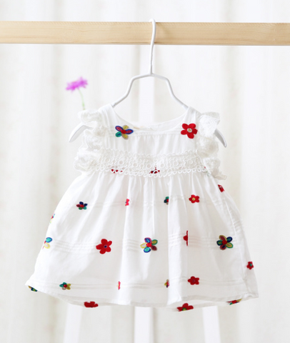 Flower dress - miniwardrobe-Dresses-Mini Wardrobe Boutique Kidswear Online