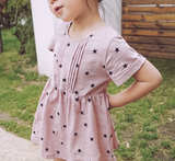 Star print dress - miniwardrobe-Dresses-Mini Wardrobe Boutique Kidswear Online