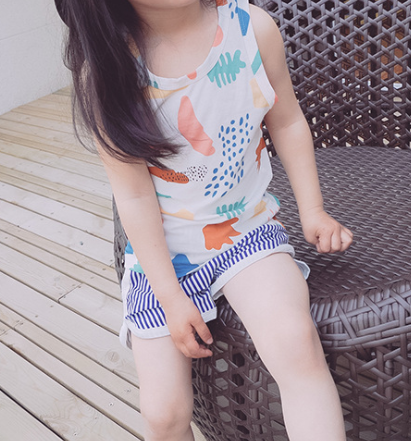 Printed top and short set - miniwardrobe-Outfit set-Mini Wardrobe Boutique Kidswear Online