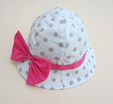 Cotton bow hat - miniwardrobe-Hat-Mini Wardrobe Boutique Kidswear Online
