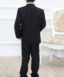 Boys suit Dinner Black 4 pcs set - miniwardrobe-suits-Mini Wardrobe Boutique Kidswear Online