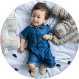 Boys Denim Romper - miniwardrobe-Rompers-Mini Wardrobe Boutique Kidswear Online