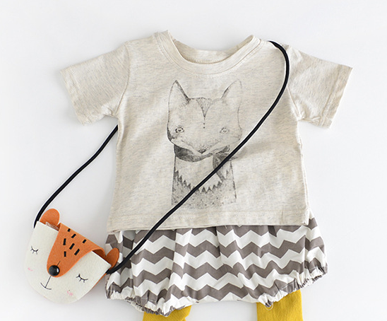 fox t-shirt - miniwardrobe-Tops-Mini Wardrobe Boutique Kidswear Online