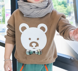 bear fleece jumper - miniwardrobe-Tops-Mini Wardrobe Boutique Kidswear Online