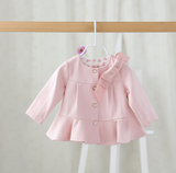 Classy Bow coat - miniwardrobe-Jacket-Mini Wardrobe Boutique Kidswear Online