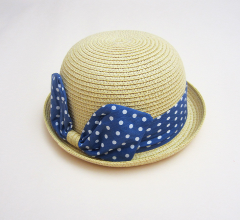 bunny denim straw hat - miniwardrobe-Hat-Mini Wardrobe Boutique Kidswear Online