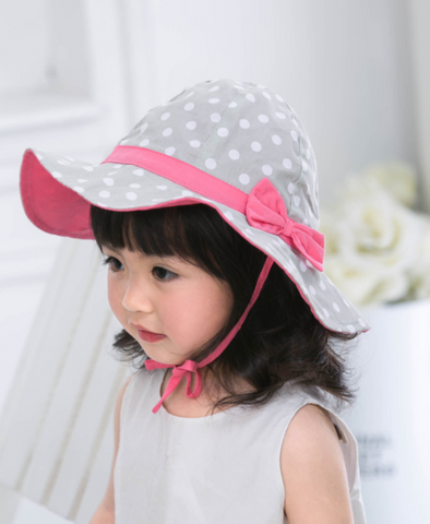 polka dot sun hat - Mini Wardrobe Kidswear-Hat-Mini Wardrobe Boutique Kidswear Online