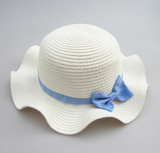 blue bow wave hat - miniwardrobe-Hat-Mini Wardrobe Boutique Kidswear Online