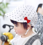 polka dot cotton cap - miniwardrobe-Hat-Mini Wardrobe Boutique Kidswear Online