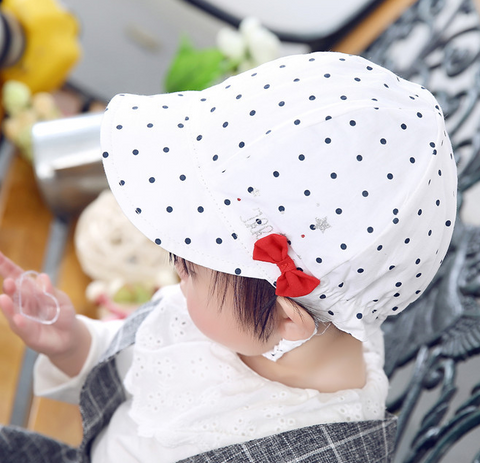 polka dot cotton cap