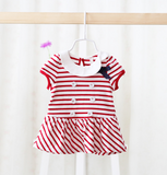 short sleeves sailor dress/top - Mini Wardrobe Kidswear-Dress-Mini Wardrobe Boutique Kidswear Online