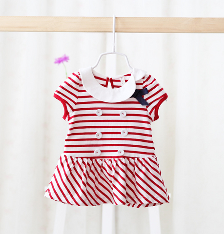 short sleeves sailor dress/top