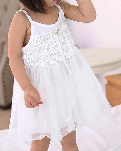 mermaid lace tulle dress in white - Mini Wardrobe Kidswear-Dress-Mini Wardrobe Boutique Kidswear Online