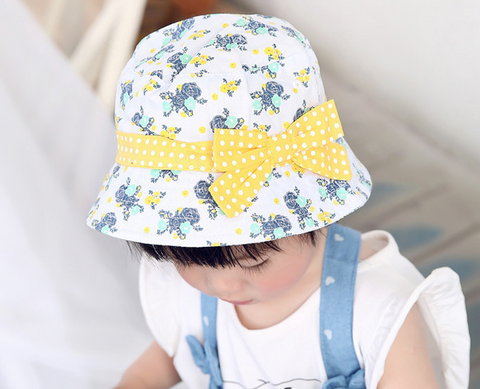 yellow floral summer hat