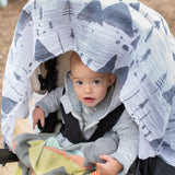 weegoamigo Printed Baby Muslin wrap - Snowy Mountains - Mini Wardrobe Kidswear-Wraps-Mini Wardrobe Boutique Kidswear Online
