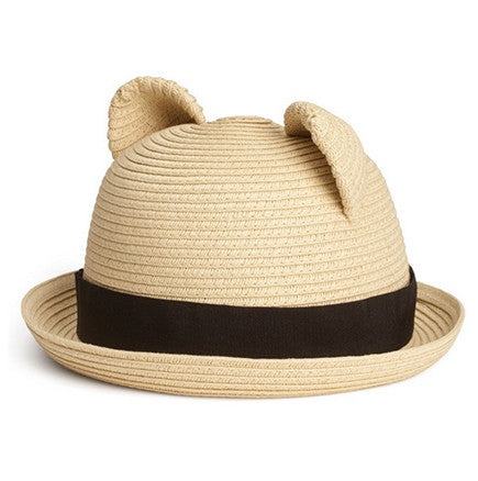 Bear ear hat - miniwardrobe-Hat-Mini Wardrobe Boutique Kidswear Online