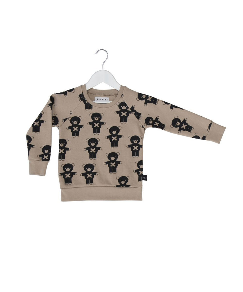 Huxbaby Soldier bears fleece sweatshirt - Huxbaby-Tops-Mini Wardrobe Boutique Kidswear Online