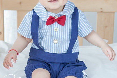 Boys one piece overall Romper - miniwardrobe-Romper-Mini Wardrobe Boutique Kidswear Online