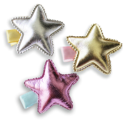 Star Cushion hair clips - miniwardrobe-Hair Clips-Mini Wardrobe Boutique Kidswear Online