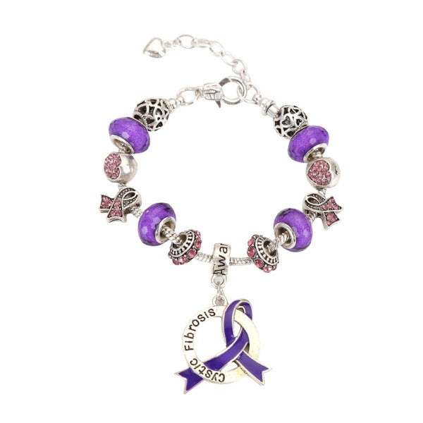 2019 Cystic Fibrosis Awareness Luxury Charm Bracelet cysticlcb Awareness-alert
