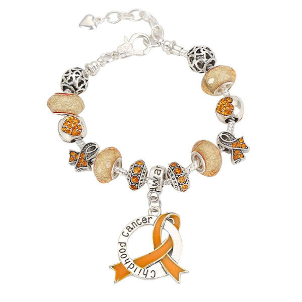2019 Childhood Cancer Awareness Luxury Charm Bracelet childhoodclcb Awareness-alert