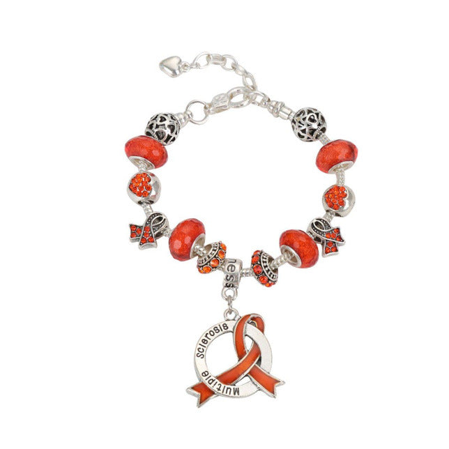 2019 Multiple Sclerosis Awareness Luxury Charm Bracelet mslcb Awareness-alert