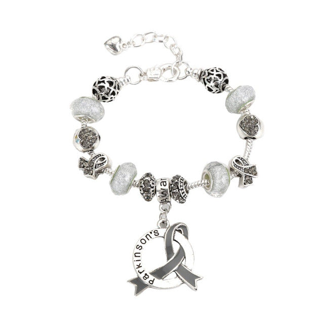 2019 Parkinson's Awareness Luxury Charm Bracelet parkinsonslcb Awareness-alert