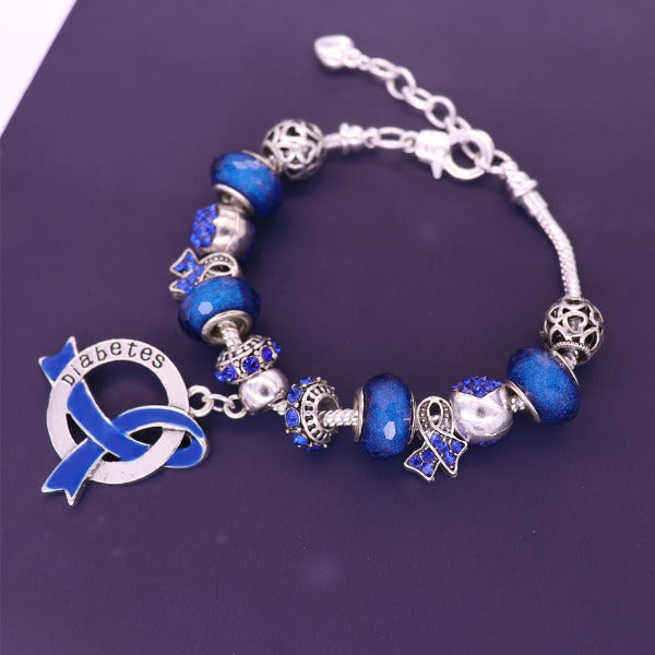 2019 Diabetic Awareness Luxury Charm Bracelet dlcb Awareness-alert