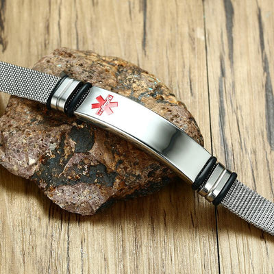 Engrave-Able Adjustable Medical Alert Bracelet BR522_1 Awareness-alert