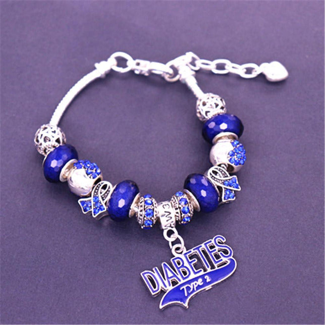 Diabetes Type 2 Awareness Luxury Charm Bracelet dlcb Awareness-alert