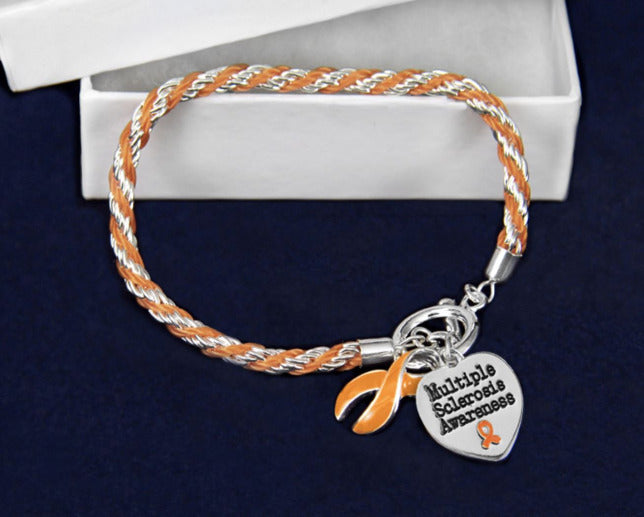 Multiple Sclerosis Orange Rope Bracelet MSRB1 Awareness-alert