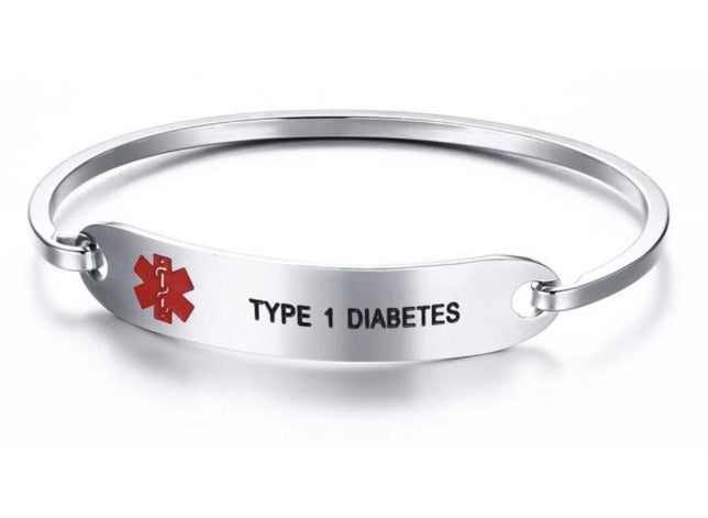 TYPE 1 & 2 Diabetes Awareness Alert Bracelet DT2B Awareness-alert Type 2
