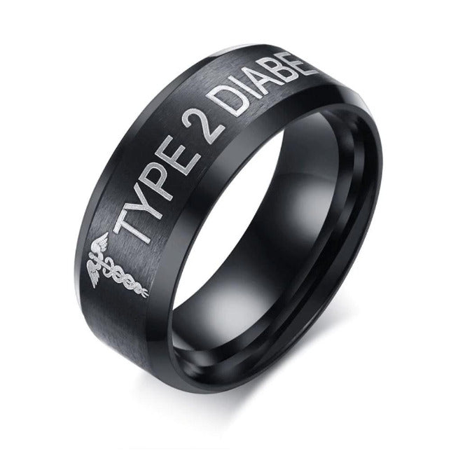TYPE 2 DIABETIC RING DT2 Awareness-alert 7