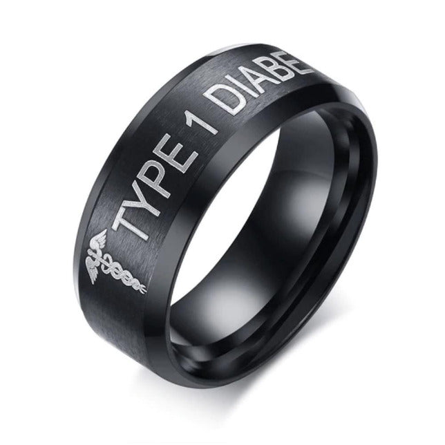 TYPE 1 DIABETIC RING DT1 Awareness-alert CLICK HERE TO PICK YOUR SIZE