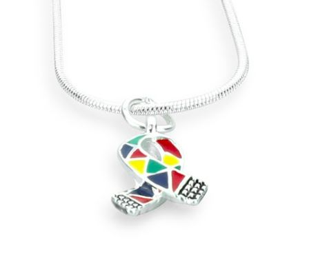 Autism Ribbon Necklace ARN Awareness-alert