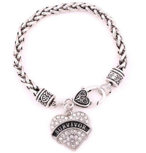 Silver Cancer Survivor Bracelet