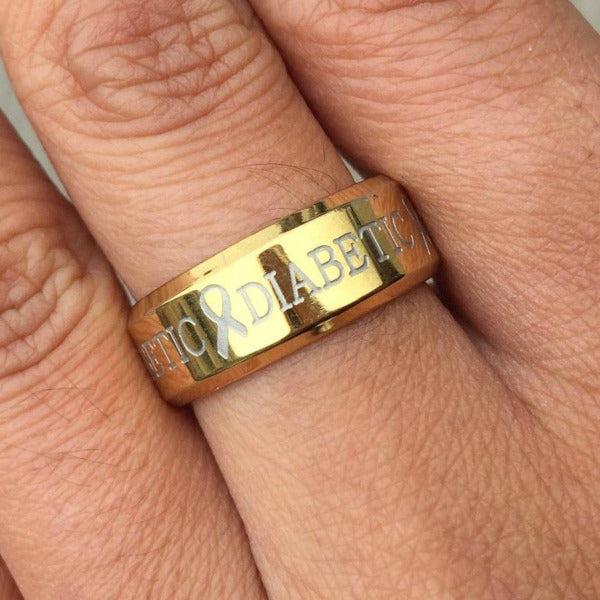 D4 - Premium Gold Diabetic Ring