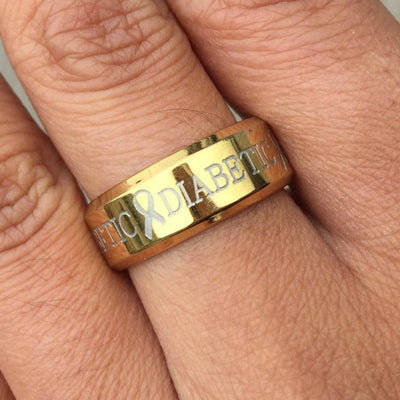 GOLD DIABETIC RING D4 Awareness-alert 6