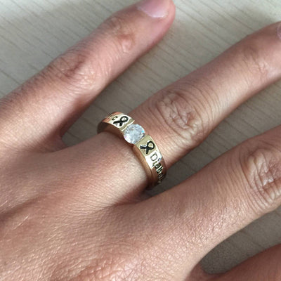 D6 - Gold Diamond Diabetic Ring