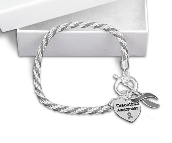 Diabetes Heart Charm Bracelet DHCB1 Awareness-alert