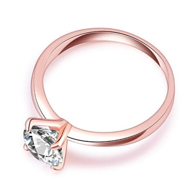 DR3 - Diamond Rose Gold Ring