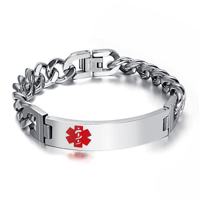 Engrave-Able Male Awareness Medical Alert Bracelet EAMAMAB Awareness-alert