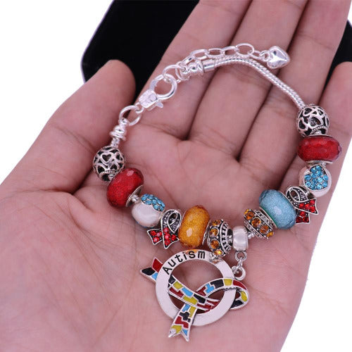 2019 Autism Awareness Luxury Charm Bracelet alcb Awareness-alert